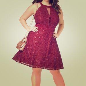 Morgan & Co maroon dress